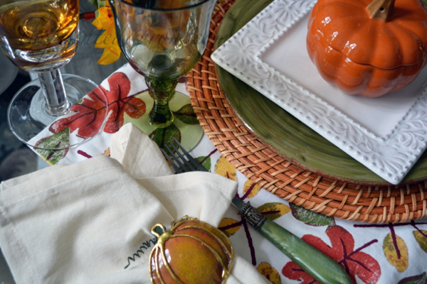 Fall place setting thepaintedapron.com