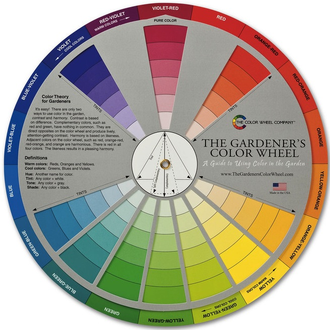 flower color wheel