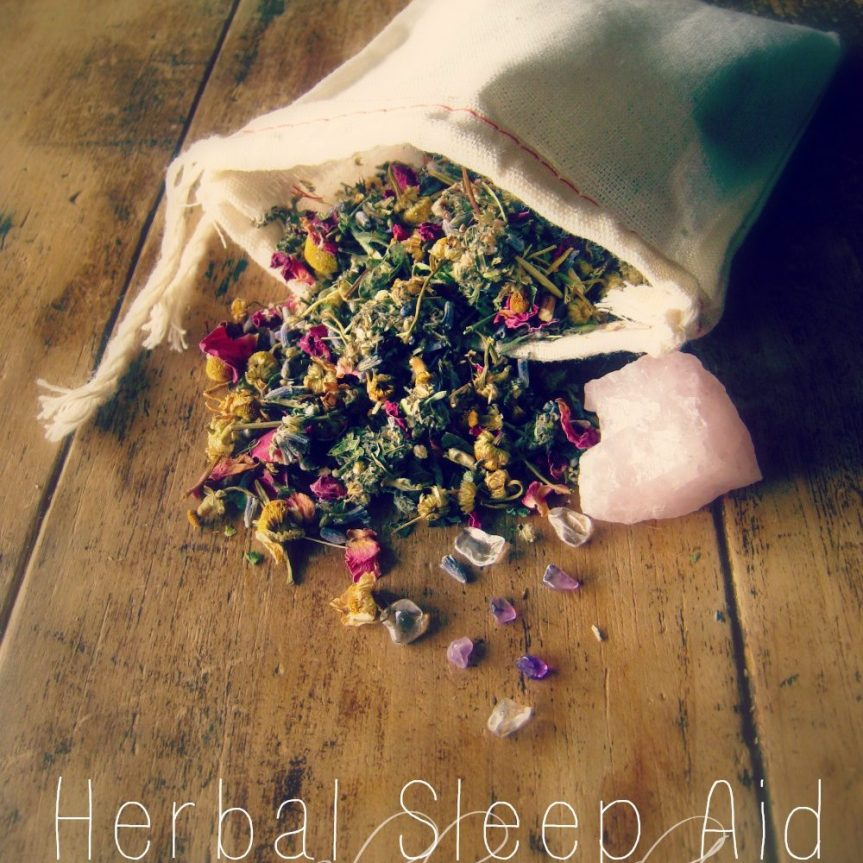 How to Make Peaceful Sleep Sachets Using Herbs, Essential Oils, and Crystals