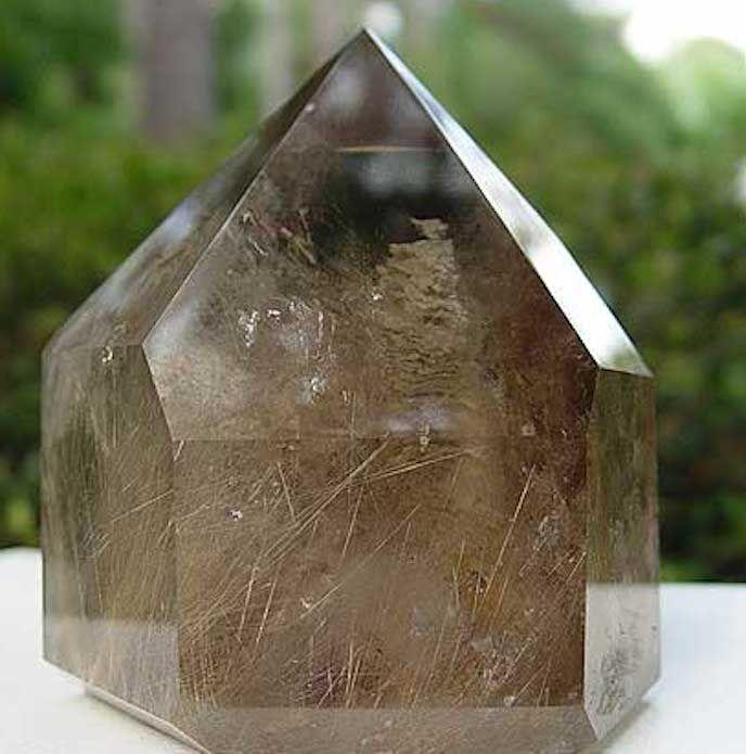 smoky quartz point