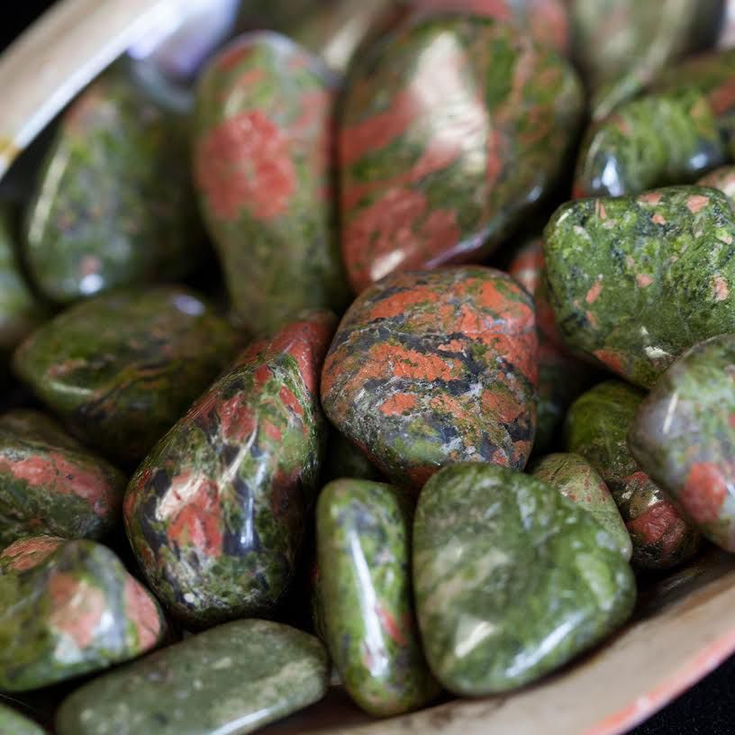 THE STONE OF BIRTH ~ THE STONE OF VISION: UNAKITE