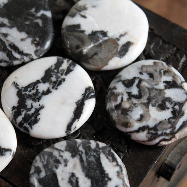 A STONE OF THE 'TWO THAT ARE ONE' THE YIN-YANG STONE: ZEBRA STONE