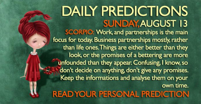 Daily Predictions for Sunday, 13 August 2017