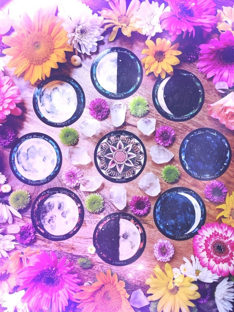 2018 Flower Moon Ceremony: Create Your Own Flower Moondala — Spirit de la Lune