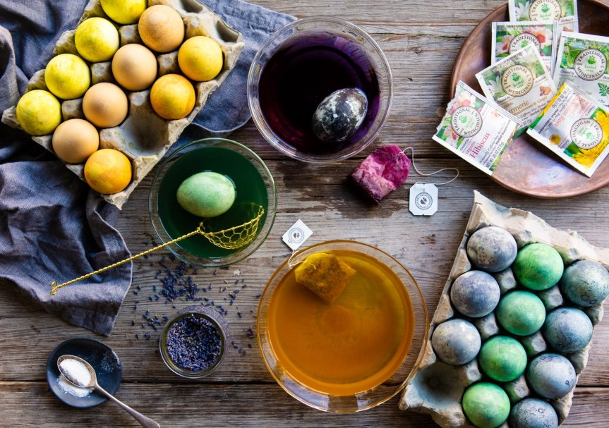 Holiday Egg Dyeing with Herbs – Traditional Medicinals
