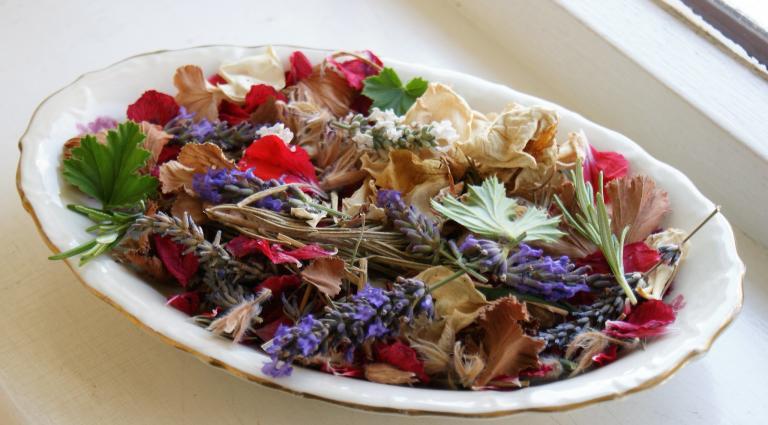 lavender incense bowl
