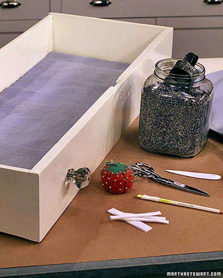 lavender drawer liner
