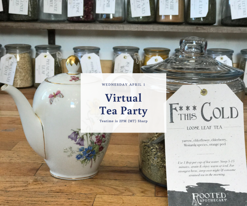 Virtual Tea Party + Fire Cider Recipe