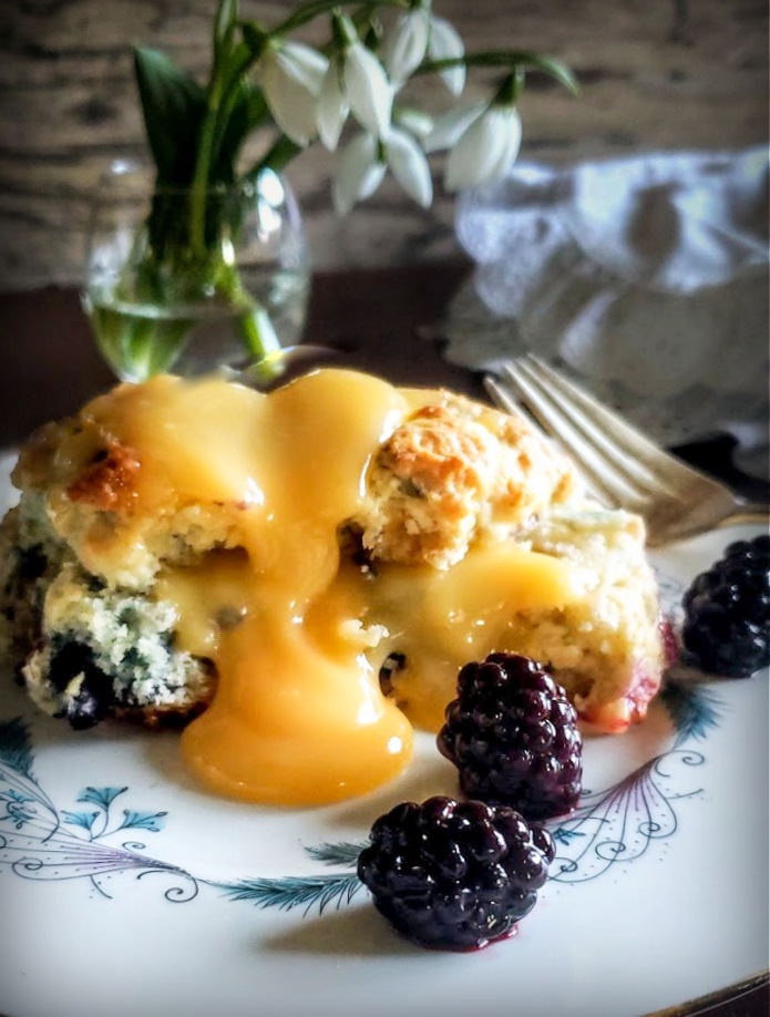 Brigid's Magical Blackberry Scones w/ Bay Leaf Infused Custard Sauce: A Matter Of Celestial Timing – Gather Victoria